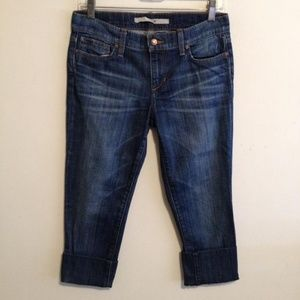 Joe's Jeans Paltrow Denim Blue Crop Cropped Pants